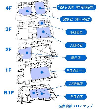 産業会館フロアマップ